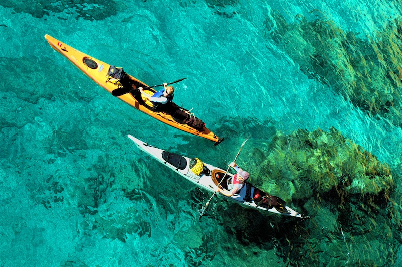 Sea kayaking, canoeing